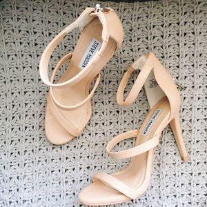 Steve Madden Feelya Nude 3-Strap Sandal Heels